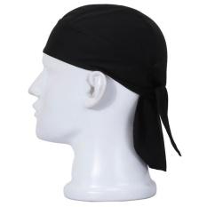 Unisex Anti Sweat Flexible Motorcycle Riding Cap Rag Head Wrap Skull  Bandana Cap Black - intl a0247a150bc