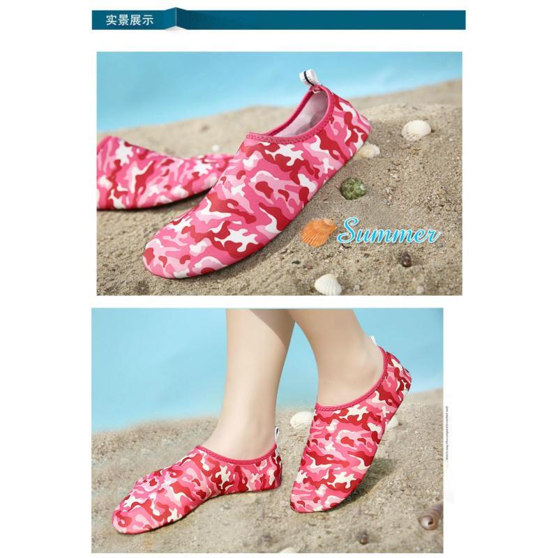 43bbb4e92d3a Unisex Flat Soft Seaside Shoes Lightweight Diving Water Sport Shoes Prevent  Scratch Non-slip Beach
