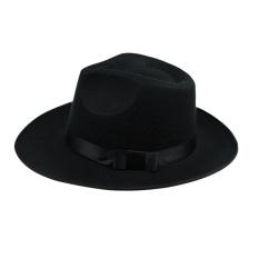 35fc86b1b9a Unisex Wool Felt Fedora Hat Classic Men Wide Brim Fedoras Jazz Cap for Head  Size ...