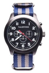 Valentino Men's Blue/Grey Nylon Strap Watch 20121737