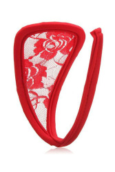 Velishy C-String Underwear Lace (Red)