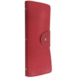 VISTRO 1003 Business ID Credit Card Holder (Red)