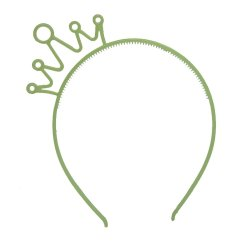Vococal Plastic Crown Hairband (Green)