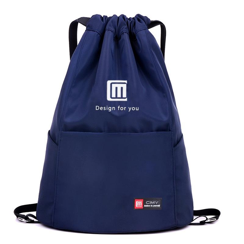 Waterproof Drawstring Sport Bag, Lightweight Storage Sackpack Backpack For Men And Women-Navy Blue - Intl By Micchow Store.