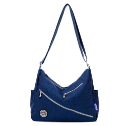 Waterproof nylon cloth bag New style ladies bag (Dark blue color) (Dark blue color)