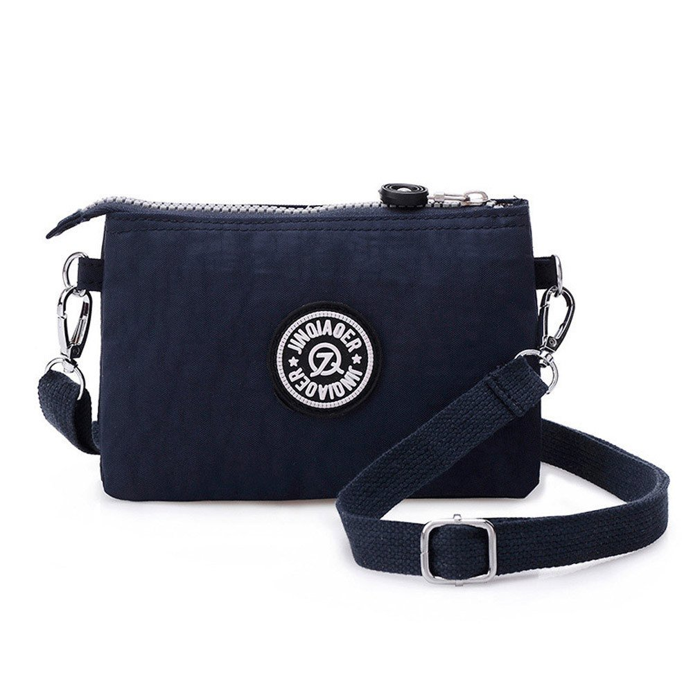 Waterproof Nylon Handbag Shoulder Diagonal Bag Messenger Deep Blue product preview, discount at cheapest price