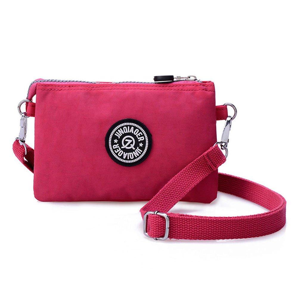 Waterproof Nylon Handbag Shoulder Diagonal Bag Messenger Hot Pink product preview, discount at cheapest price