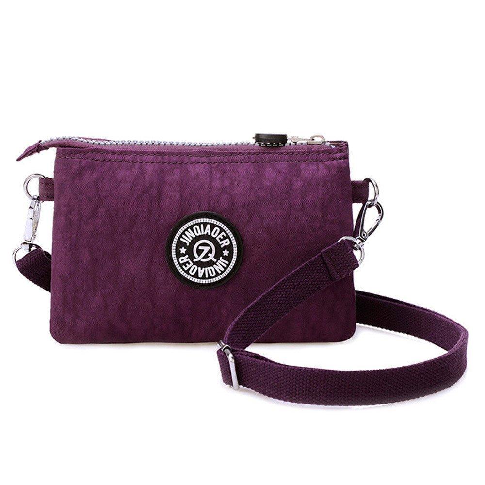 Waterproof Nylon Handbag Shoulder Diagonal Bag Messenger Purple product preview, discount at cheapest price