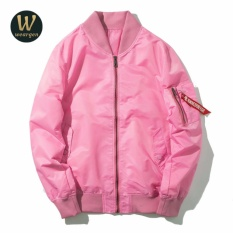 c730a073b Weargen MA1 Men Military Airborne Flight Tactical Bomber Jacket Army Air  Force Fly Pilot Jacket Aviator Motorcycle 659-J017-Pink - intl