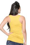 Weiying Lovely Lady Print 8601 Multi-Way Sleeveless Tunic (Yellow) - thumbnail 2