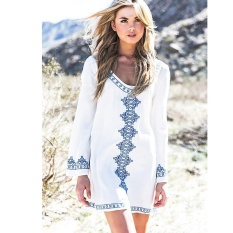 f93d3d5abedfd7 Women Cotton Swimsuit Cover Up Fashion White Beach Wear Cover Shirt Bikini  Cover-up Top