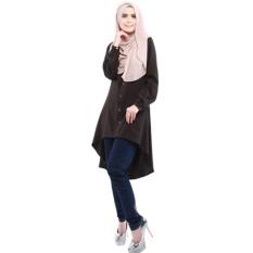 f40f2d2f8e9ef Women Fashion Tunic Blouse Abaya Islamic Muslim Wear Long Sleeve Tops Dress-Brown  - intl