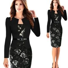 9bf272710e Women Office Dress Plus Size Faux Jacket One-Piece Bodycon Vestidos  Patchwork Elegant Summer Wear