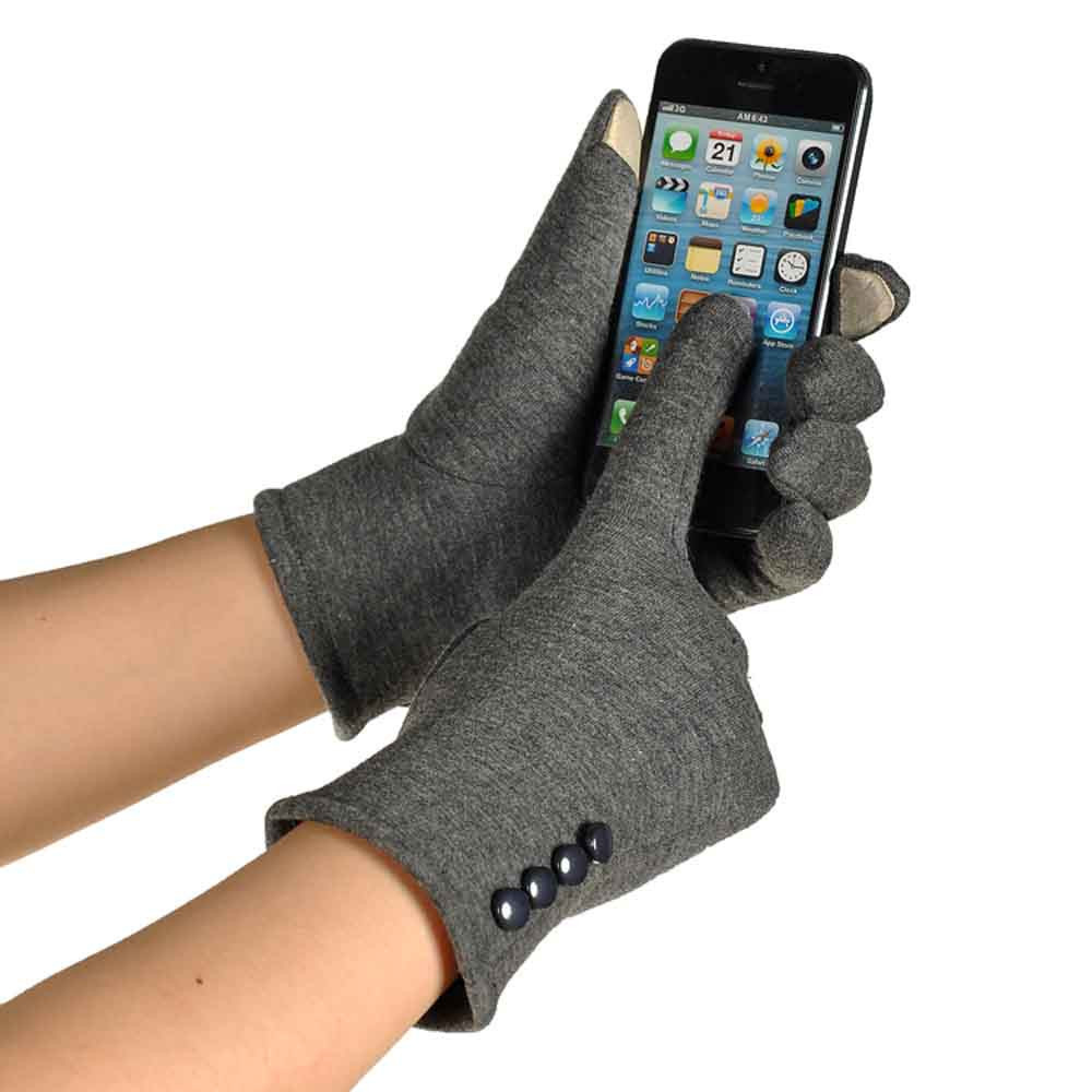 Women Touch Screen Winter Warm Wrist Gloves Mittens Gray product preview, discount at cheapest price