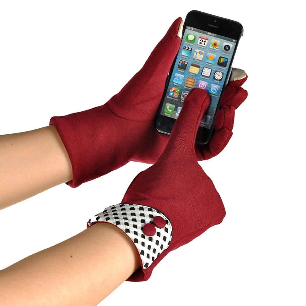 Women Touch Screen Winter Warm Wrist Gloves Mittens Red product preview, discount at cheapest price