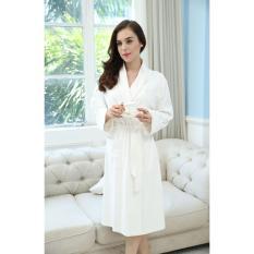 26ad1502c8 Women Weave Robe Kimono Bathrobe White Cotton Couples Sleepwear - intl