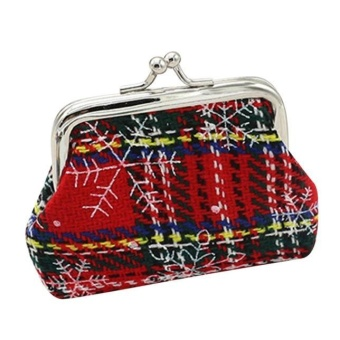 Womens Christmas Small Gift Mini Coin Purse mini size Handbag Bag -Red - intl