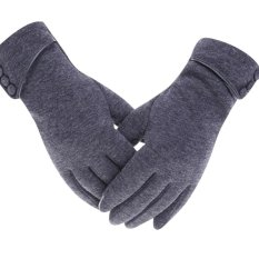 a50295868 Womens Lady Winter Warm Gloves Touch Screen Phone Windproof Lined Thick  Gloves - intl