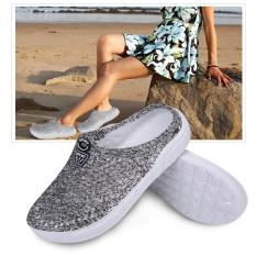 Womens Summer Hollow Flat Beach Outdoor Travel Slippers Female Sandals (Grey 38) - intl