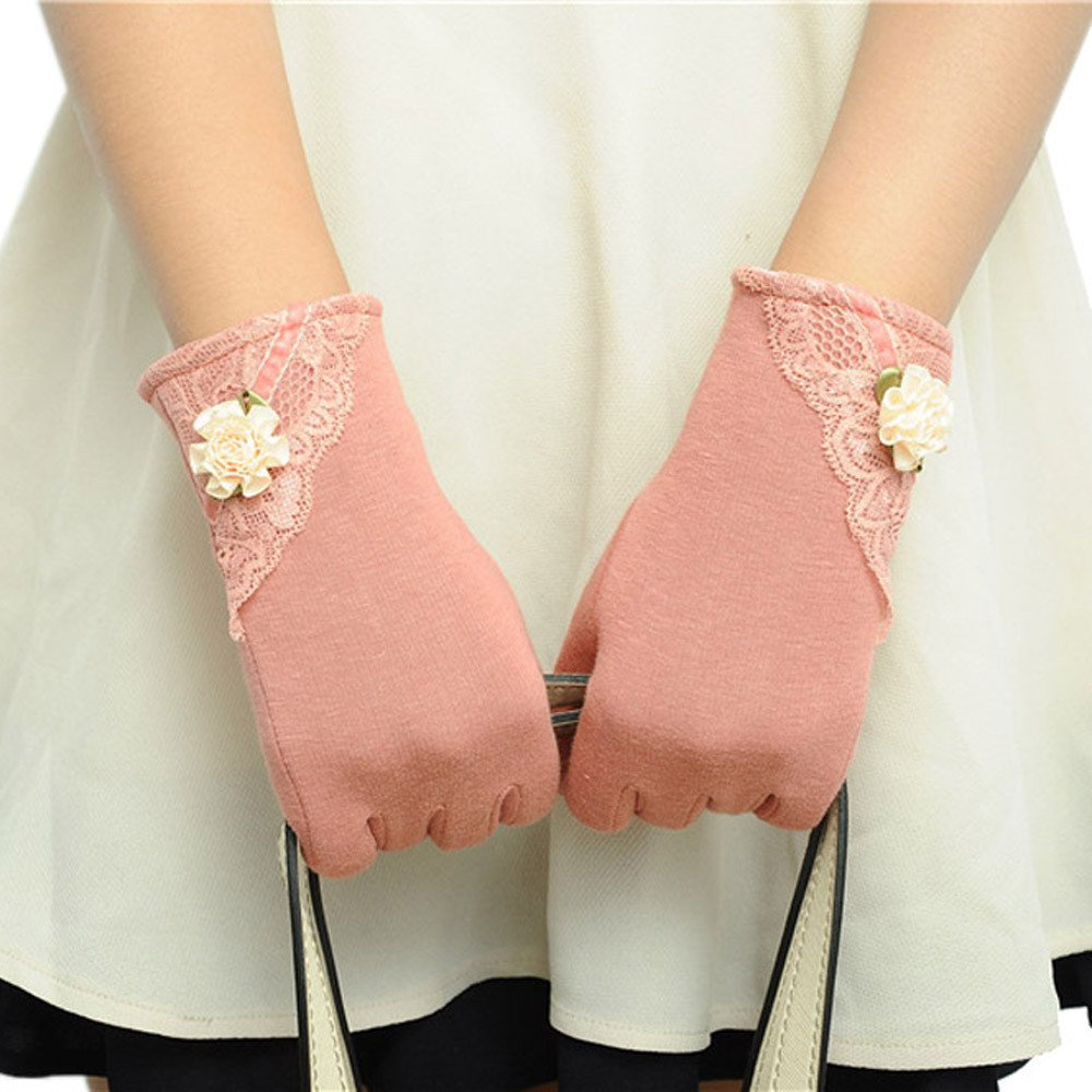 Womens Touch Screen Winter Warm Wrist Gloves Mittens Pink product preview, discount at cheapest price