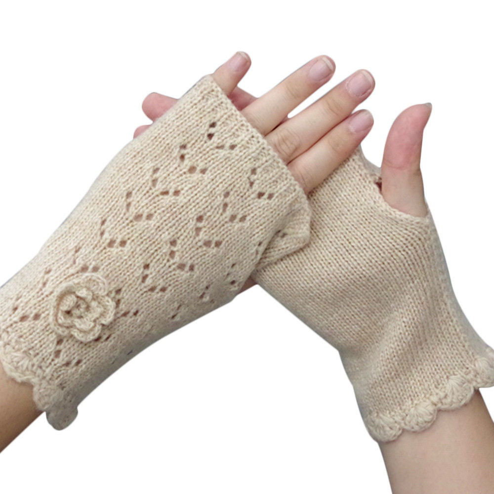 Women's Warm Winter Gloves Mittens Beige - Intl product preview, discount at cheapest price