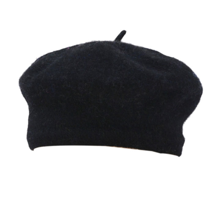 Womens Winter Solid Warm Wool Beret French Artist Beanie Hat Black product preview, discount at cheapest price