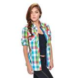 Wrangler Ladies' Checkered Long Sleeves Shirt (Lapis) - thumbnail 2