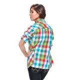 Wrangler Ladies' Checkered Long Sleeves Shirt (Lapis) - thumbnail 3