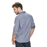 Wrangler Men's Checkered Long Sleeves Shirt (Ash Blue) - thumbnail 3