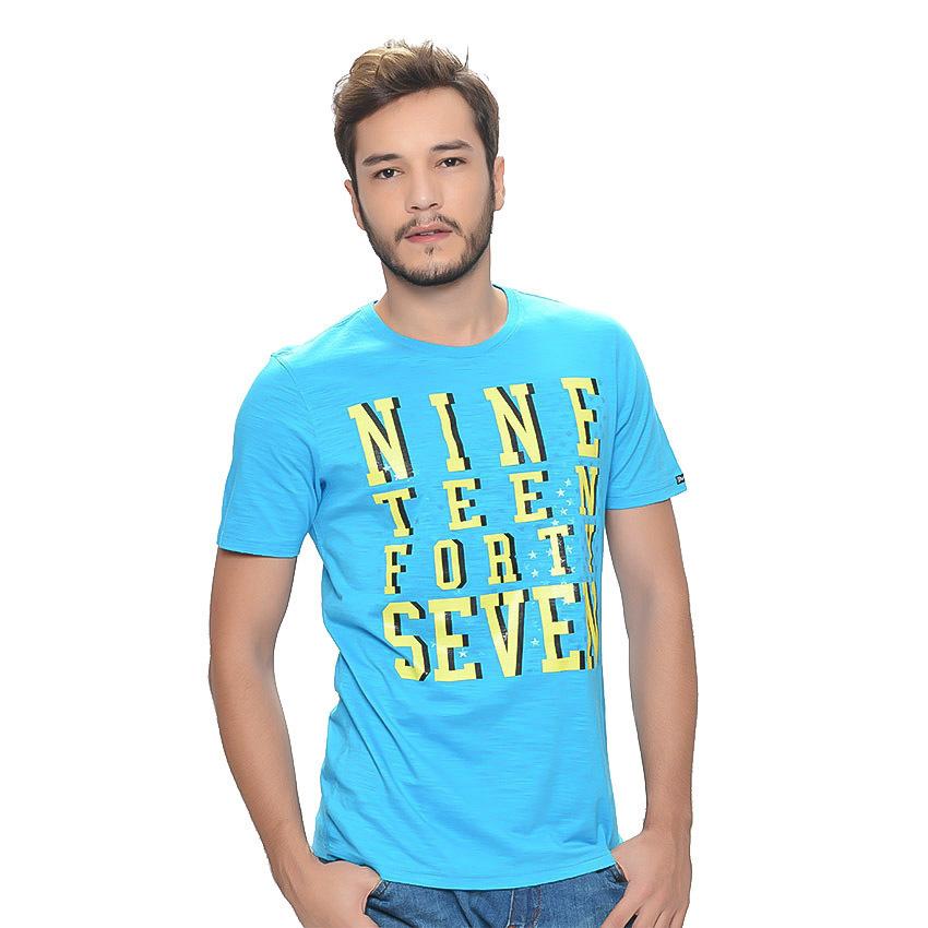 Wrangler Men's Graphic T-Shirt (Blue Danube) - thumbnail
