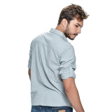 Wrangler Men's Solid Long Sleeves Shirt (Mist Chambray) - thumbnail 3