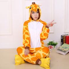 bf00757e06 Yika Giraffe Adult Unisex Pajamas Cosplay Costume Onesie Sleepwear S-XL  (Yellow)