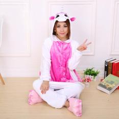bfaf26d9c2 Yika Unicorn Adult Unisex Pajamas Cosplay Costume Onesie Sleepwear S-XL  (Pink)