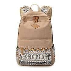 YiLee Fashion Women Canvas Shoulder School Bag Bookbag Backpack Travel Rucksack Handbag (Multicolor) -