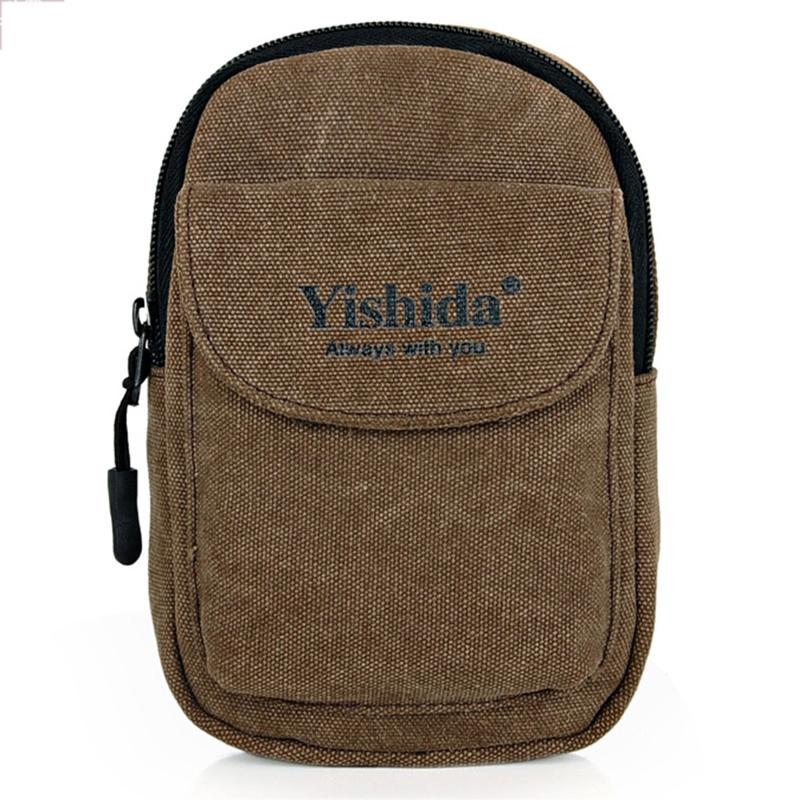 Yishada Casual Men Waist Bag Pocket Canvas Small Bag - thumbnail