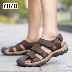274419c1fe49a5 YOZO Mens Sandal Wading Shoes Genuine Leather Men Sandals Summer Cow Leather  New For Beach Male