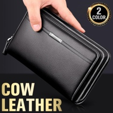 YSLMY Cow Leather Men Business Bags Man Clutch True Leather Bag Mobile Wallets 2 Color -