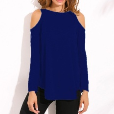 0f7786ffce5 ZANZEA 2017 autumn Women Blouses Blusas Sexy Tunic Off Shoulder Long Sleeve  Pullover Tops Casual Loose