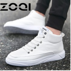 ZOQI Popular Running Shoes For Men Buckle High Side Men Sport Shoes Camouflage Cushioning Rubber Men Sneakers(White) - intl