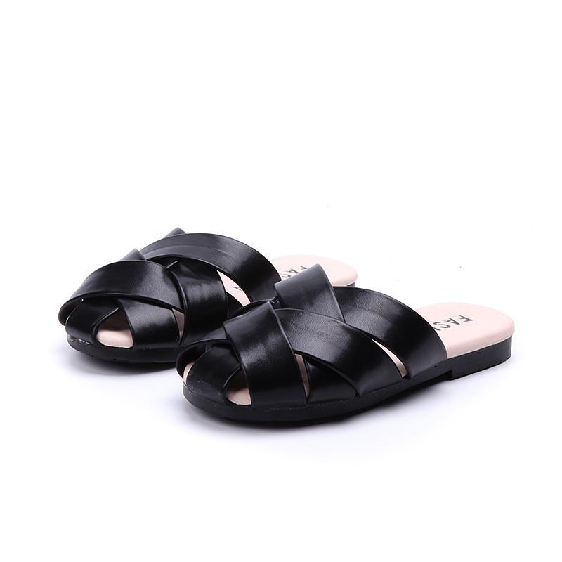 5bd8a4c0c Girls Weaving Slipper 2018 Summer New Style Children Flat Sandals 3-16-Year-