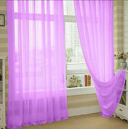 New Solid Color Voile Sheer Curtain 1pc By Socone Shop.