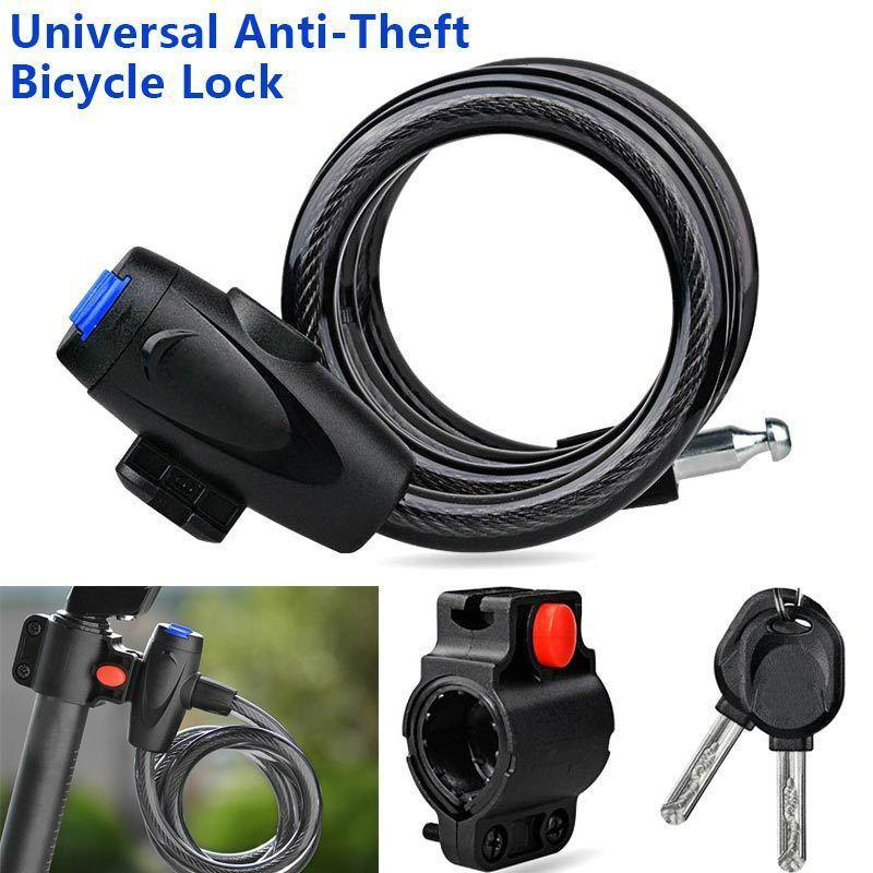 Anti-Theft Steel Cable Bike Motorcycle Lock By Asi Novelties.