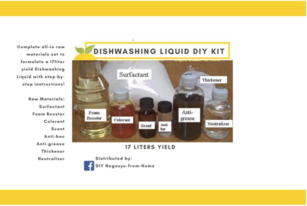 Dishwashing Liquid DIY Kit