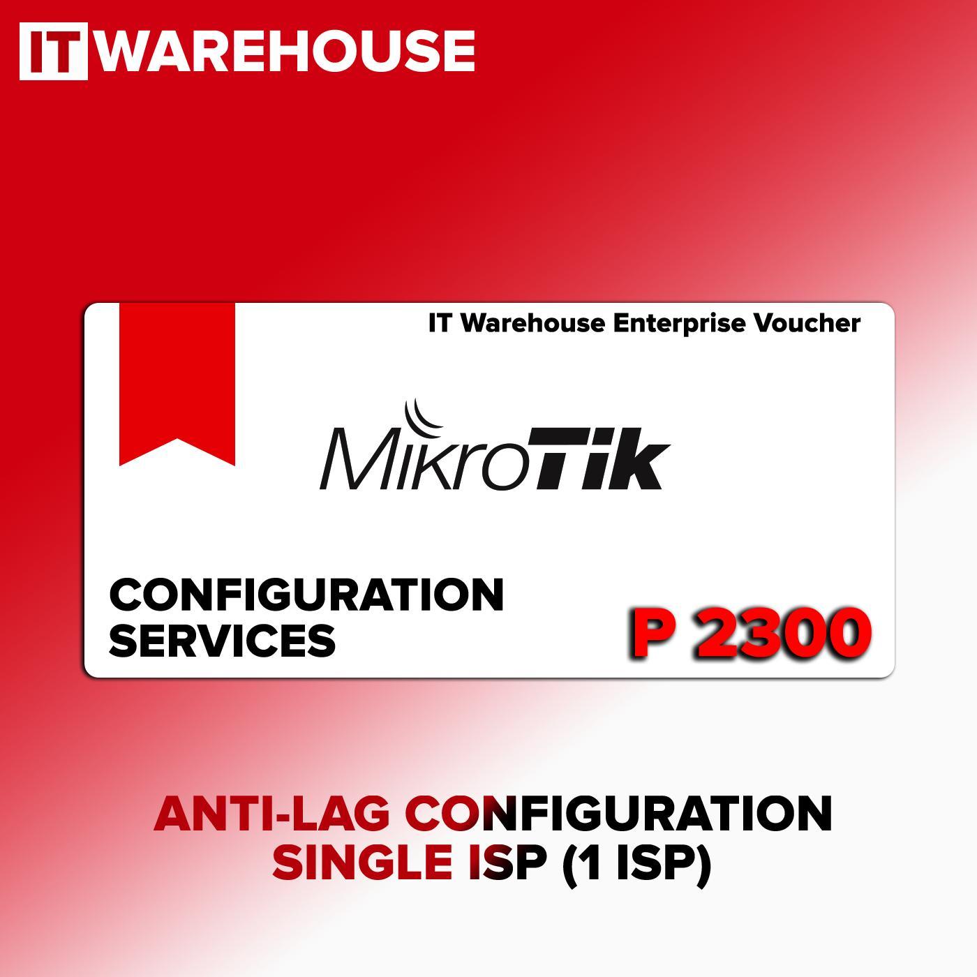 Mikrotik Anti LAG Configuration Service Single ISP Wan voucher for hAP,  RB951, hEX, RB750, hAP lite, hAP mini, hAP ac, RB3011, RB4011, CCR, CRS -