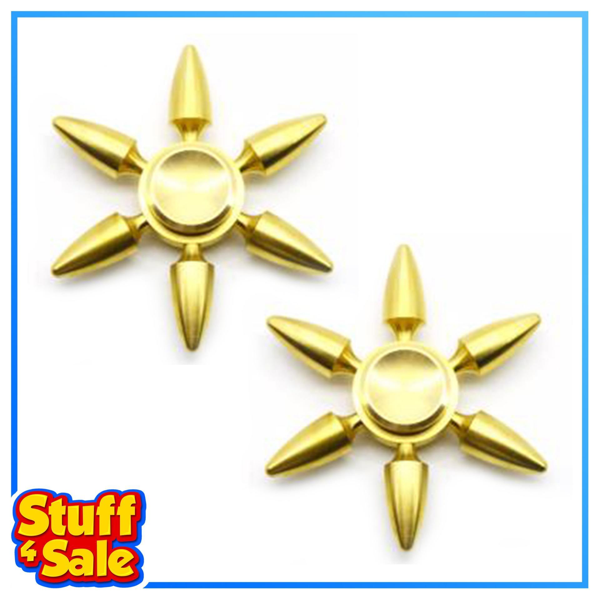 Solid Brass Copper Metal Fidget Spinner - Bullet Set Of 2 By Stuff 4 Sale.