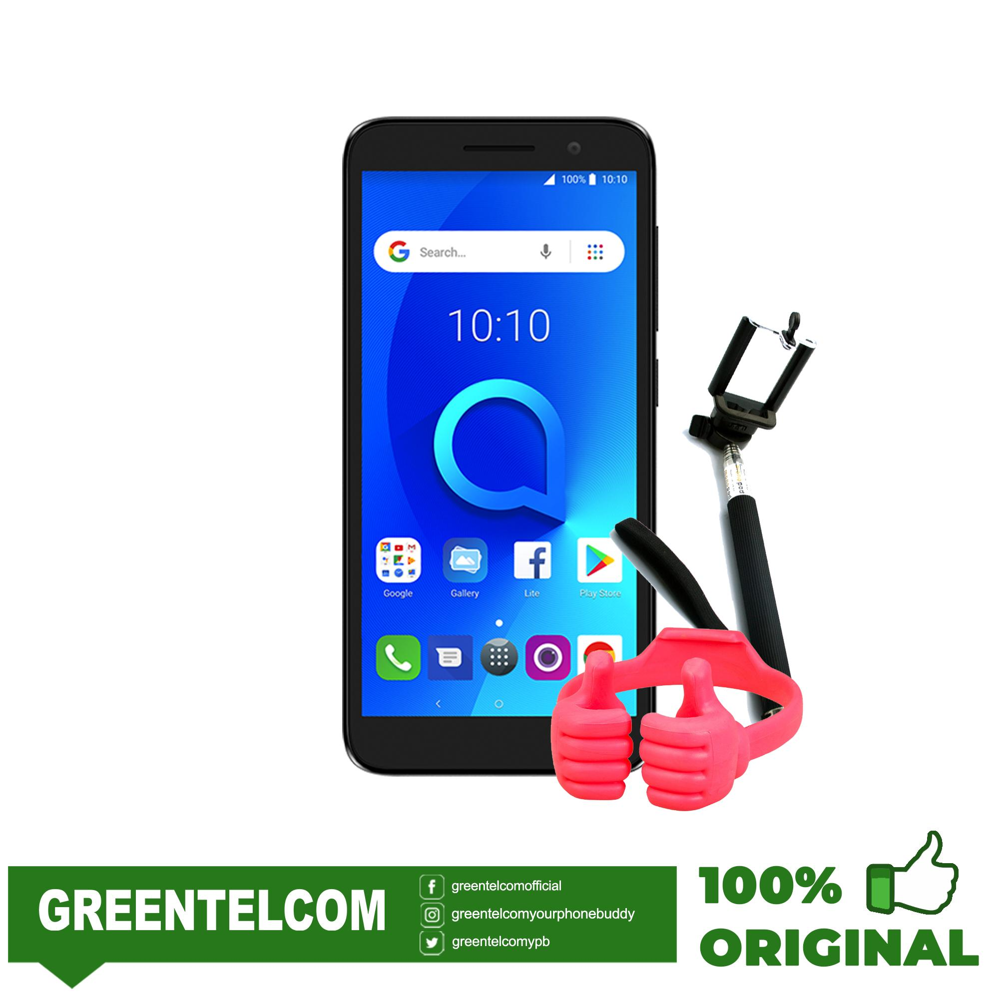 Alcatel 1 (5033T) Metallic Black with free monopod and ok stand
