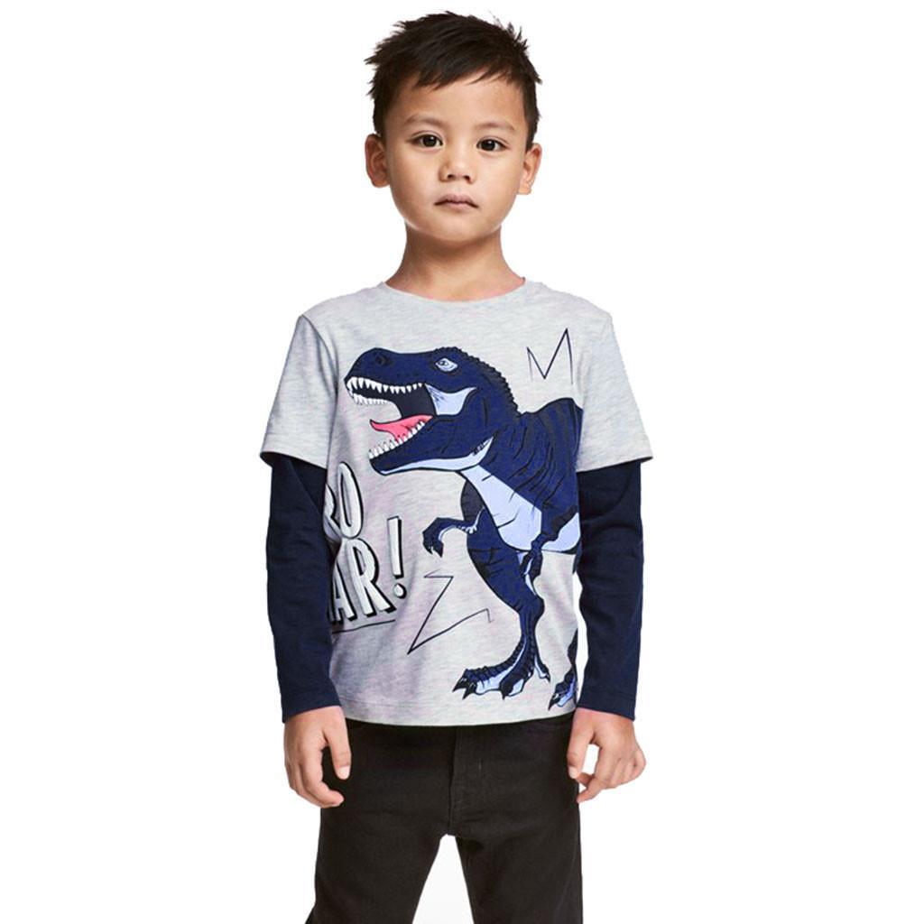 3ce6ce053a00c Baileyshop Kids Cloth Children Clothing Sets Toddler Baby Boys Girls Long  Sleeve Cartoon Dinosaur Print Tops T-Shirt Clothes