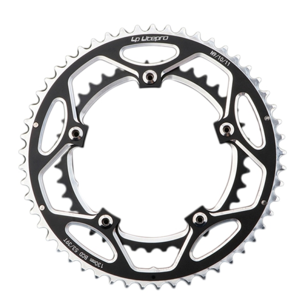 Mua Litepro Crank Chainring Folding Bike BMX Single Speed Chainwheel Crank 130BCD Universal 39T-53T Tooth