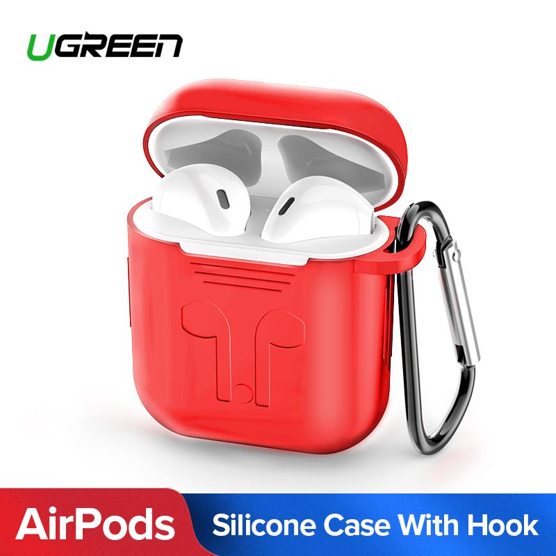 dc89db7c7a1 UGREEN Earphone Case for Apple AirPods Silicone Cover Wireless Bluetooth  Headphone Air Pods Pouch Protective AirPod