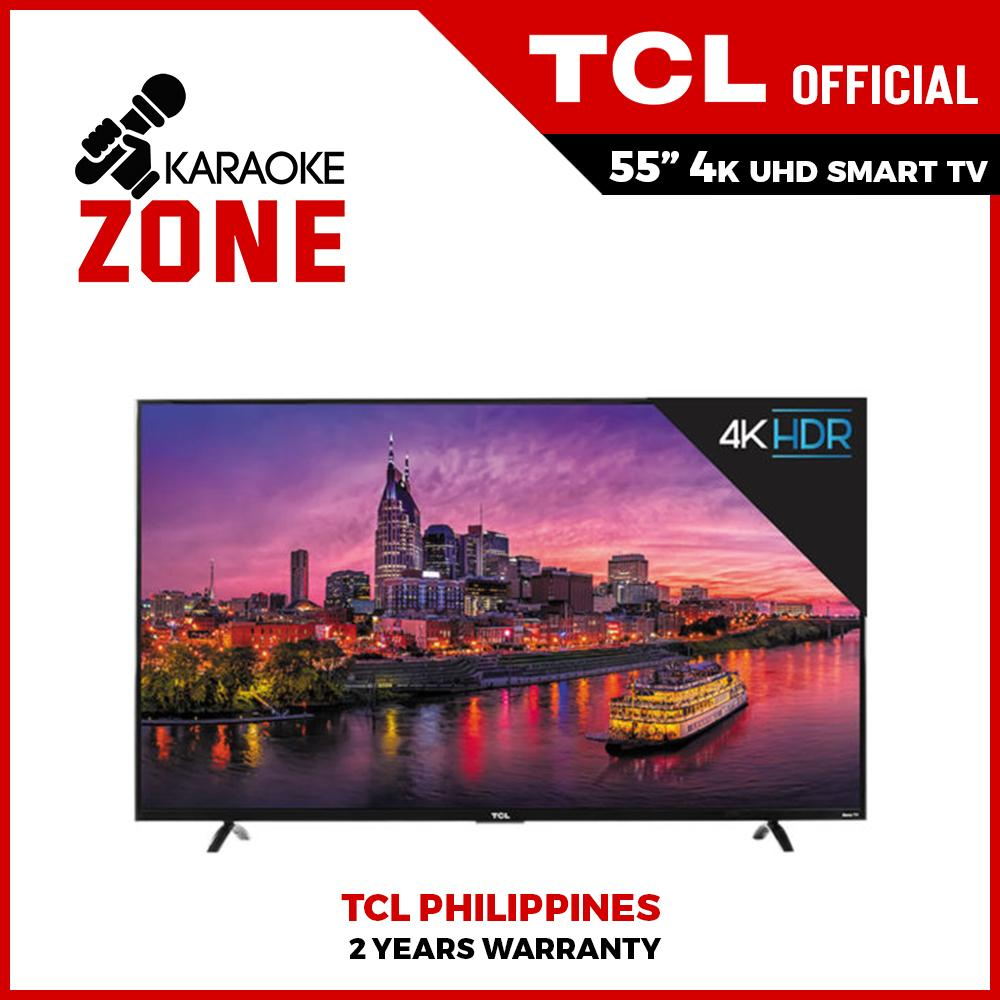 TCL 55 inch LED TV 55P65US-PH 4k UHD Smart TV with HDMI Bluetooth WiFi 2 4G  Youtube Netflix TV + APP Store and Wall Bracket